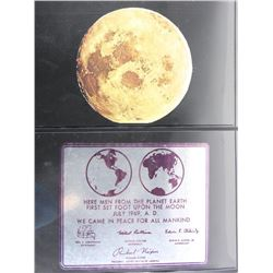 Lot of 2 Stamps - Here Men from the Planet Earth First Set Foot Upon The Moon.
