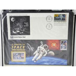 Lot of 2 stamps - A Tribute to Space Exploration & Eagle has Landed.