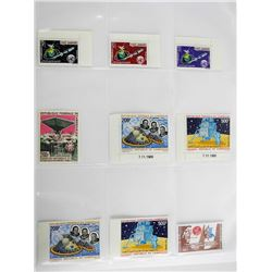 Lot of 9 Apollo 11 Stamps