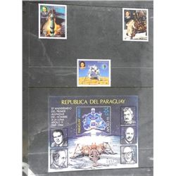 Lot of 4 Apollo 11 Stamps