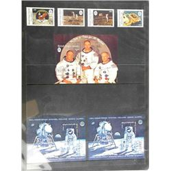 Lot of 7 Apollo 11 Stamps