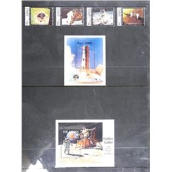 Lot of 6 Apollo 11 Stamps