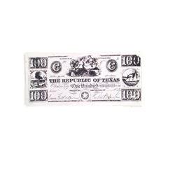 Django Republic of Texas Stack of $100 Bills Movie Props
