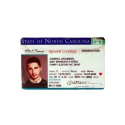 Man Down Gabriel (Shia LaBeouf) Driver's License Movie Props