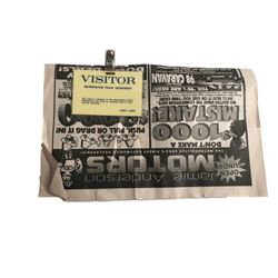 Payback Newspaper & Badge Movie Props