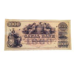 Django Canal $1,000 Bank Note Movie Props