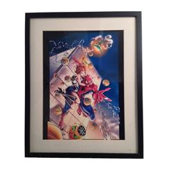 Jamie Tyndall Framed Spider-Man Green Goblin Print