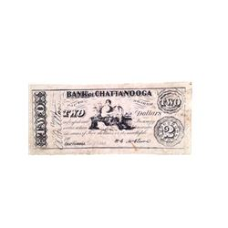 Django Bank of Chattanooga $2 Bills Movie Props