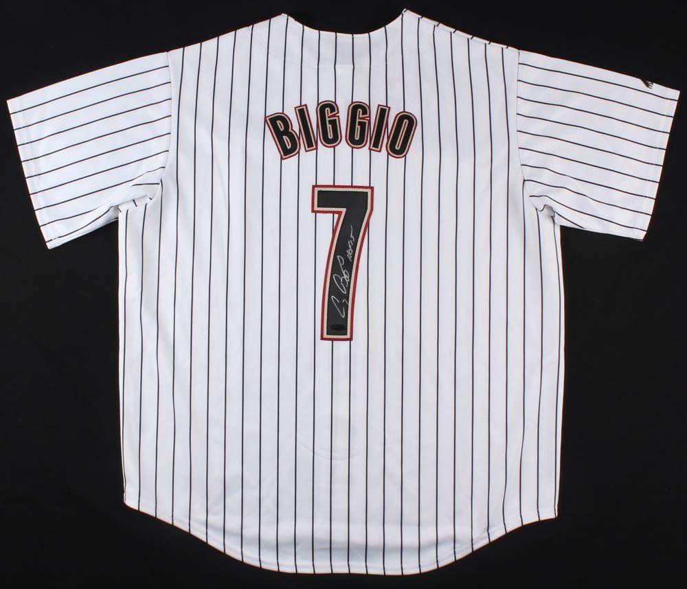 buy popular 88ce0 f77f7 Craig Biggio Signed Houston Astros Jersey Inscribed