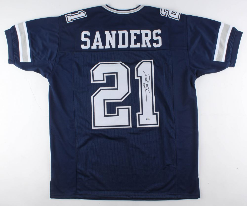 cheap for discount ce24b e4ce1 Deion Sanders Signed Dallas Cowboys Jersey (Beckett COA)