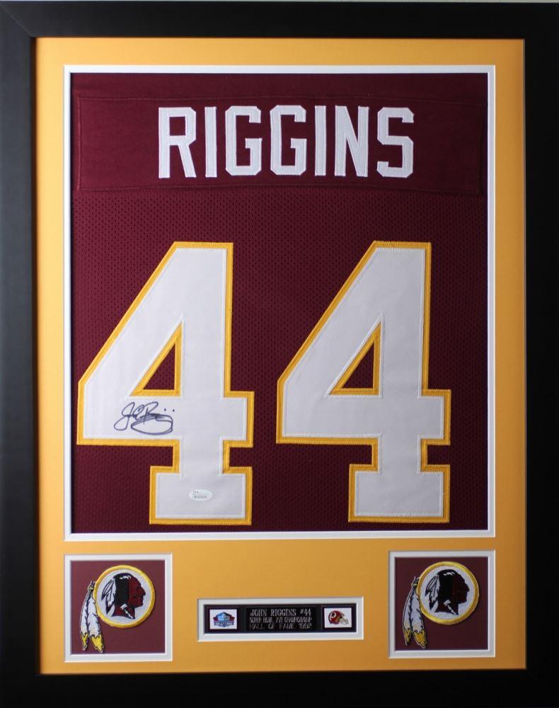 low priced a18e3 fac0a John Riggins Signed Washington Redskins 24x30 Custom ...