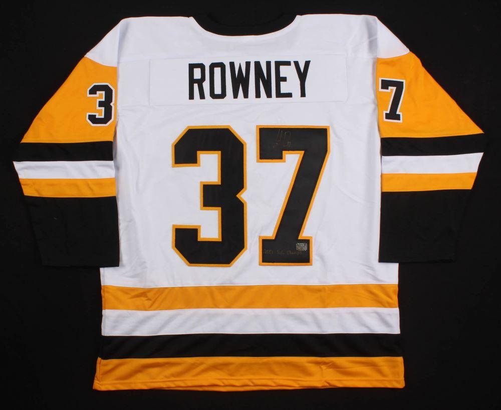 hot sale online 8eb13 d5d10 Carter Rowney Signed Pittsburgh Penguins Jersey Inscribed ...