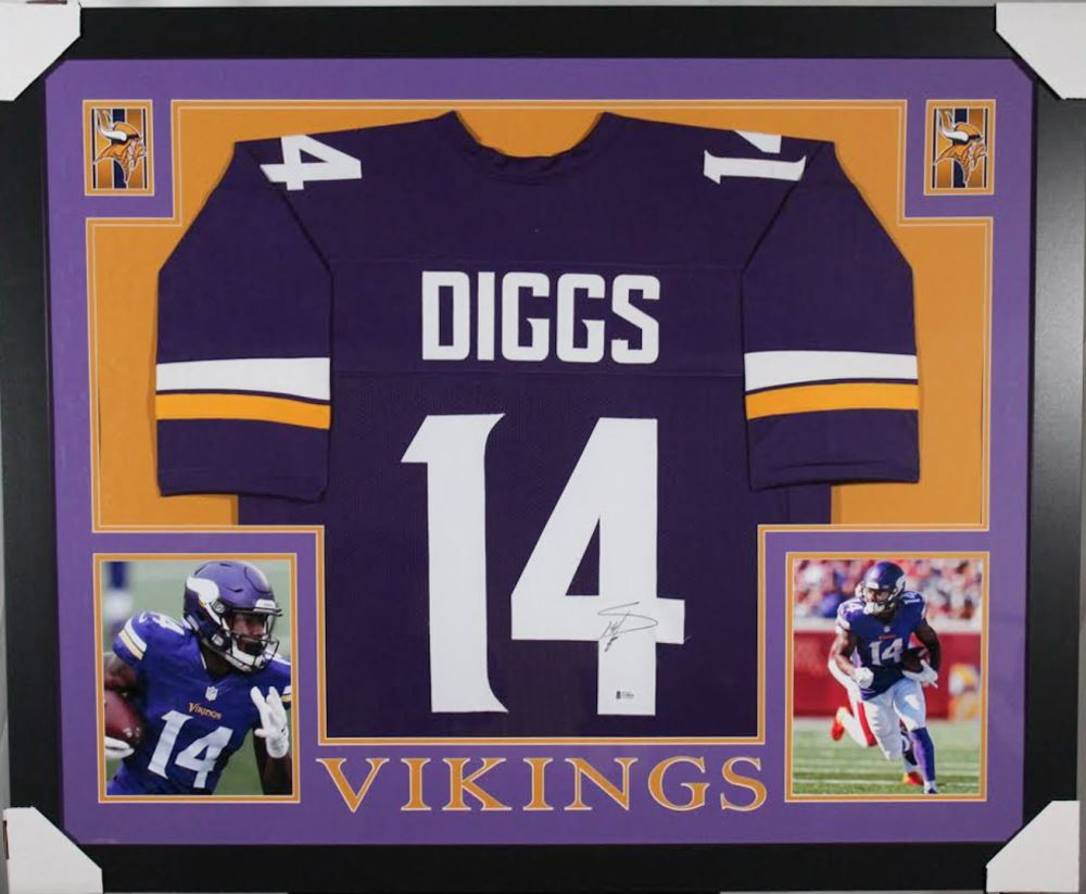 new product 7ee36 ef769 Stefon Diggs Signed Minnesota Vikings 35x43 Custom ...
