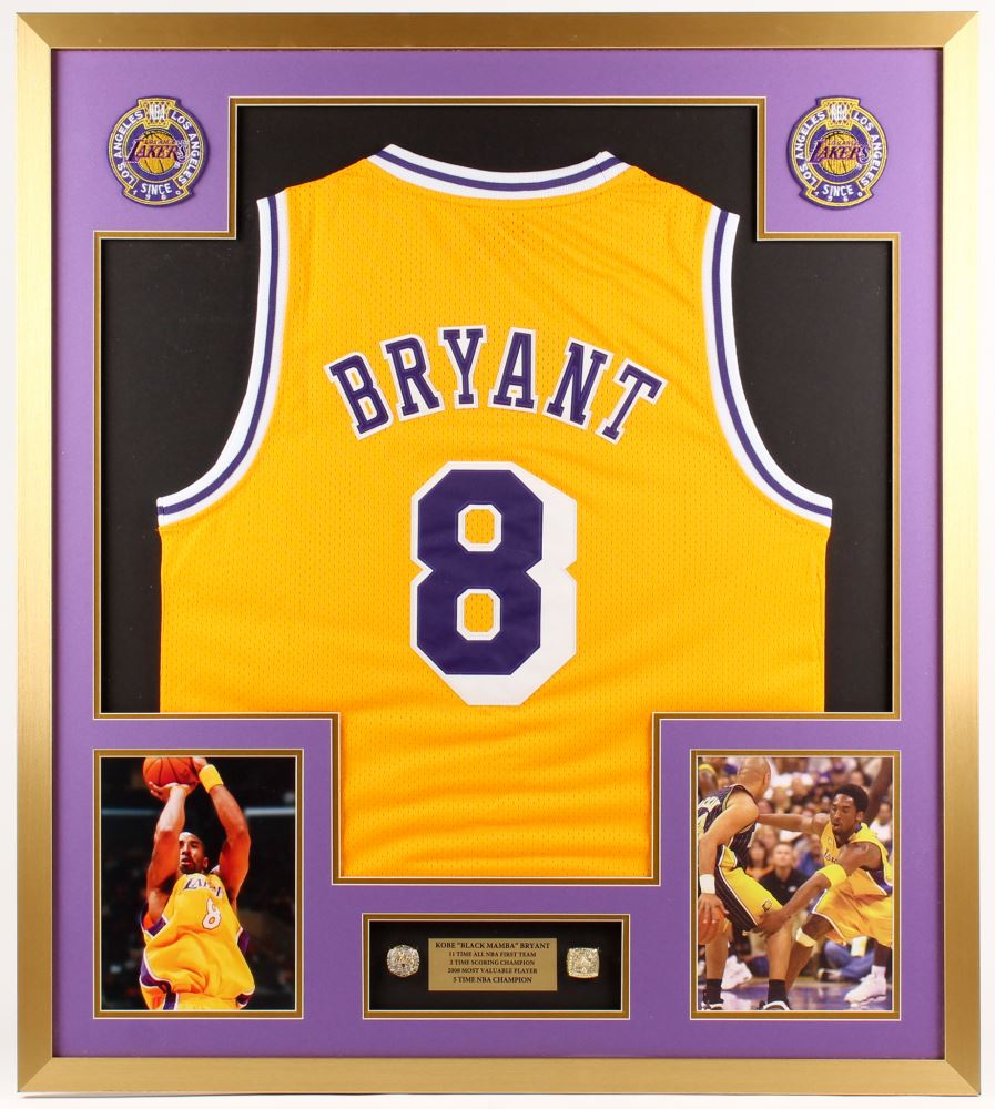 quality design 6b90e 4068d Kobe Bryant Los Angeles Lakers 32x36 Custom Framed ...