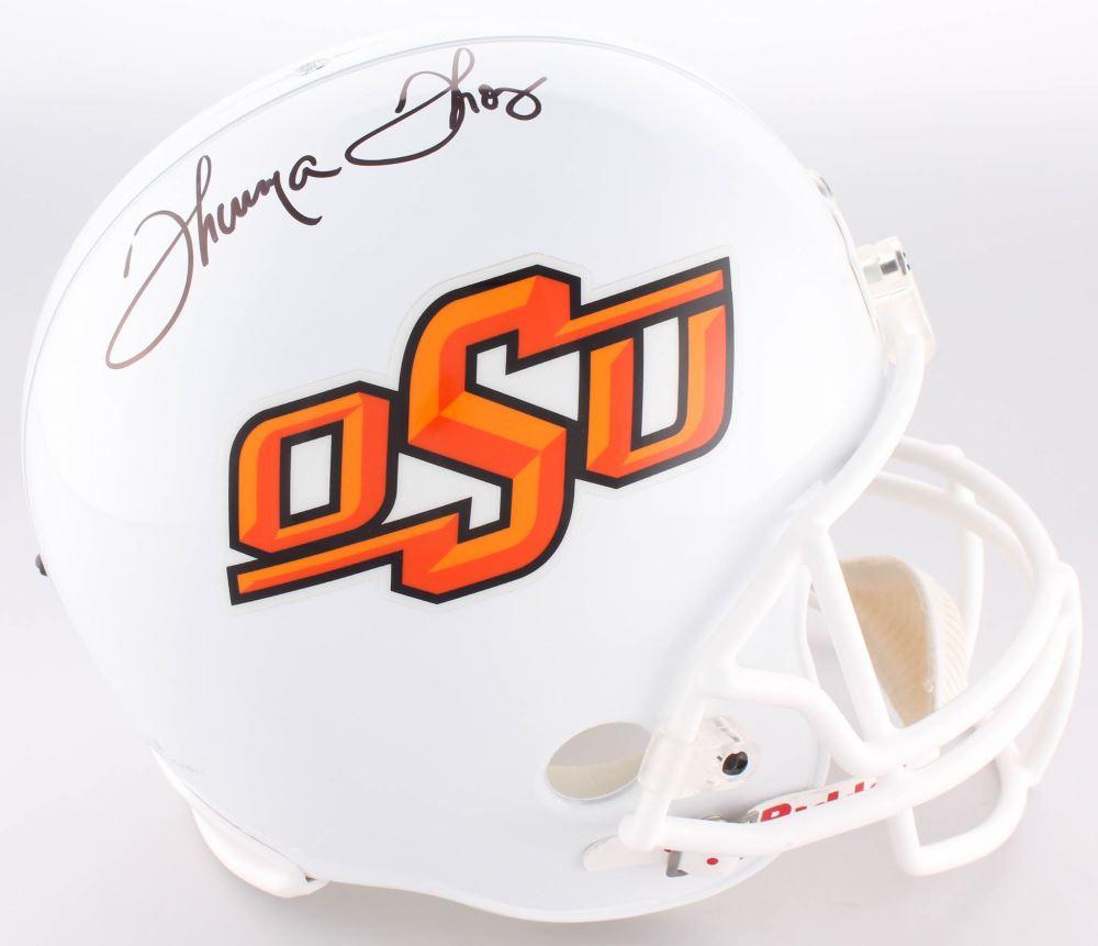 Thurman Thomas Signed Oklahoma State Cowboys Full-Size ...