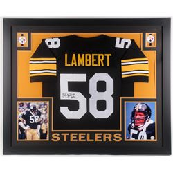 timeless design 43aa6 f81d3 Jack Lambert Signed Pittsburgh Steelers 35x43 Custom ...