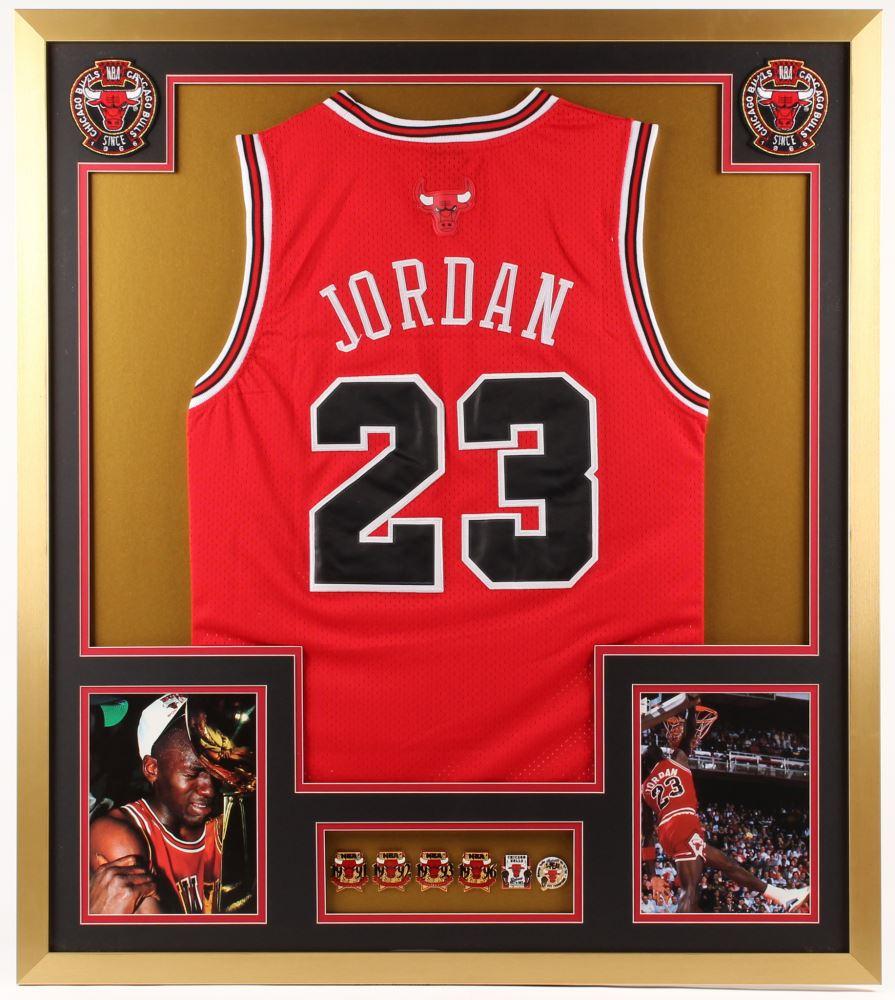 hot sales 74feb acaa0 Michael Jordan Chicago Bulls 32x36 Custom Framed Jersey ...