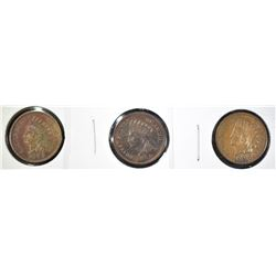 1882, 1888 & 1899 AU INDIAN HEAD CENTS