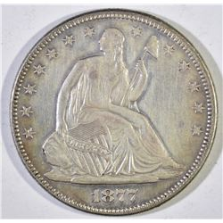 1877 SEATED LIBERTY HALF DOLLAR  AU/BU