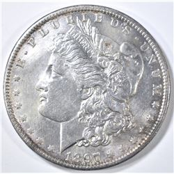 1897-O MORGAN DOLLAR AU/BU OLD CLEANING