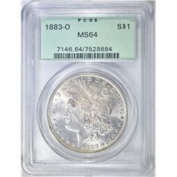 1883-O MORGAN DOLLAR PCGS MS-64 OGH