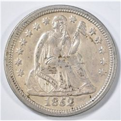 1852 SEATED LIBERTY DIME   CH BU