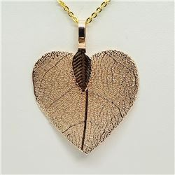 NATURAL LEAF PENDANT NECKLACE