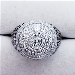 SILVER CZ RING SIZE 7.5