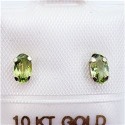 10K PERIDOT EARRINGS