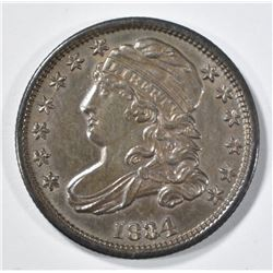 1834 CAPPED BUST DIME V CH UNC
