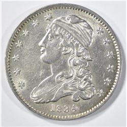 1834 CAPPED BUST QUARTER CH AU