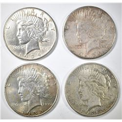 4 BETTER DATE PEACE DOLLARS