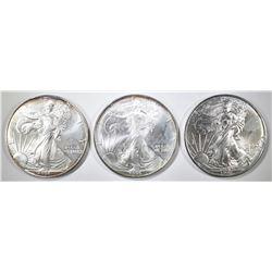1995, 96, 97 AMERICAN SILVER EAGLES