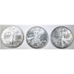 1998, 99, 2000 AMERICAN SILVER EAGLES