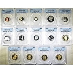 2008-S ANACS PR70 DCAM 14-COIN PROOF SET