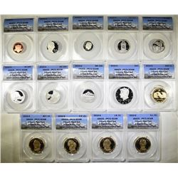 2010-S ANACS PR70 DCAM 14-COIN PROOF SET