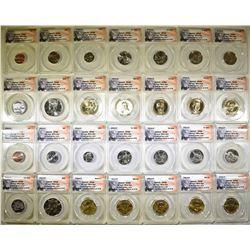 2014-P&D ANACS SP68 28-COIN MINT SET