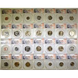 2015-P&D ANACS SP68 28-COIN MINT SET