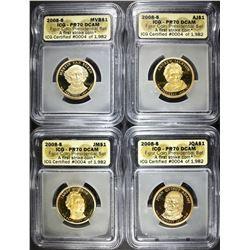 2008-S 4-COIN PRESIDNETIAL SET  ICG PR-70 DCAM