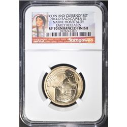 2014-D SACAGAWEA DOLLAR  NGC SP-70 ENHANCED FINISH