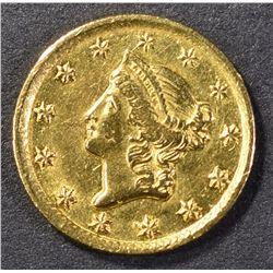 1849-D $1.00 GOLD CH BU RARE!