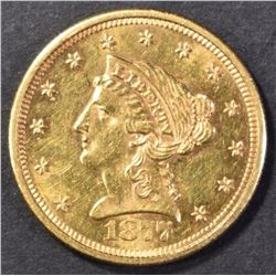1877-S $2.50 GOLD CH BU PROOF LIKE