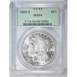 1880-S MORGAN DOLLAR PCGS MS-64 OGH