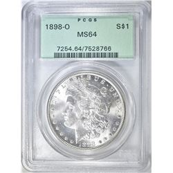 1898-O MORGAN DOLLAR PCGS MS-64 OGH