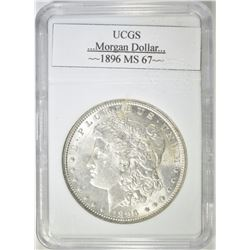1896 MORGAN DOLLAR UCGS SUPERB GEM BU