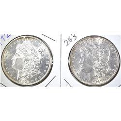 1879-S & 1883 CH BU MORGAN DOLLARS