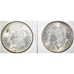 1887 & 88 CH BU MORGAN DOLLARS