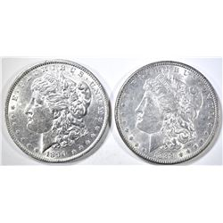 1889 & 90 MORGAN DOLLARS BU