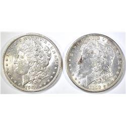 1898-O & 1901-O MORGAN DOLLARS CH BU