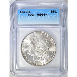1879-S MORGAN DOLLAR  ICG MS-64+